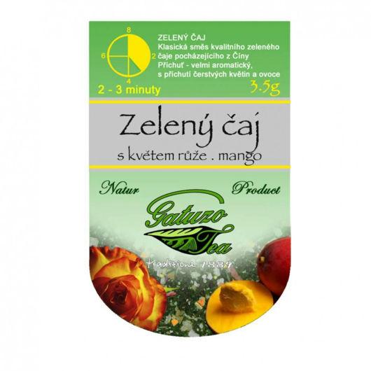 Gatuzo čaj - Zelený čaj s růží a mango
