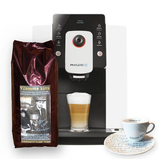 Philco PHEM 1000 + 1 Kg Vilémovy kávy + 2 šálky