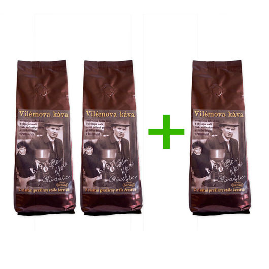 Vilémova káva 2 + 1 zdarma